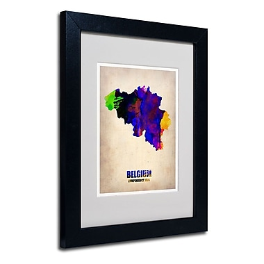 Trademark Fine Art 'Belgium Watercolor Map'