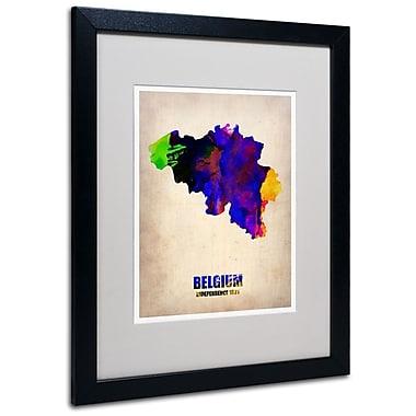 Trademark Fine Art 'Belgium Watercolor Map' 16