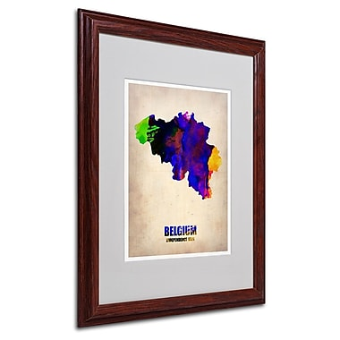 Trademark Fine Art 'Belgium Watercolor Map' 16