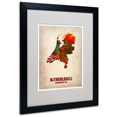 Trademark Fine Art 'Netherlands Watercolor Map' 16