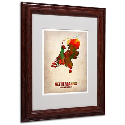 Trademark Fine Art 'Netherlands Watercolor Map' 11