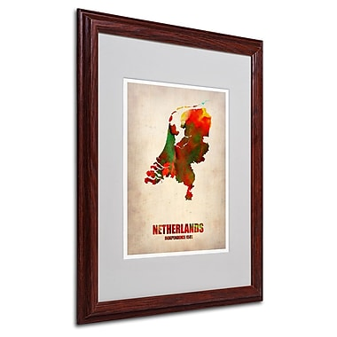 Trademark Fine Art 'Netherlands Watercolor Map' 16