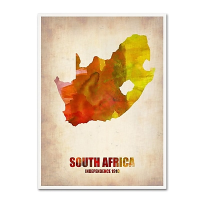 Trademark Fine Art 'South Africa Watercolor Map' 14
