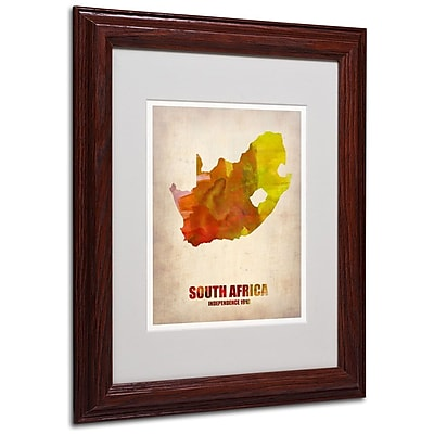 Trademark Fine Art 'South Africa Watercolor Map' 11