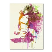 """Trademark Fine Art 'Challenger Girl' 14"""" x 19"""" Canvas Art"""