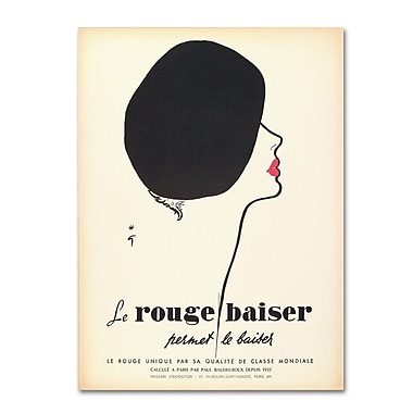 Trademark Fine Art 'Le Rouge Baiser' 35