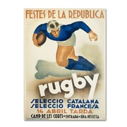 "Trademark Fine Art 'Rugby' 14"" x 19"" Canvas Art"