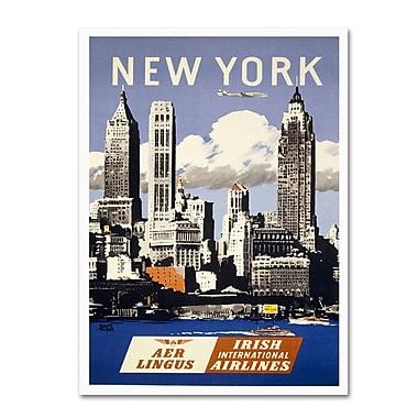 Trademark Fine Art 'Trav NY Aer Lingus' 22