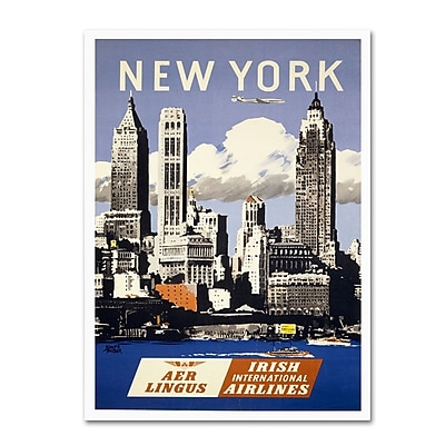 Trademark Fine Art 'Trav NY Aer Lingus' 10