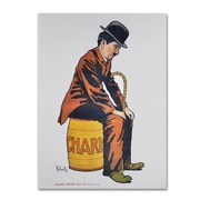 "Trademark Fine Art 'Chaplin' 35"" x 47"" Canvas Art"