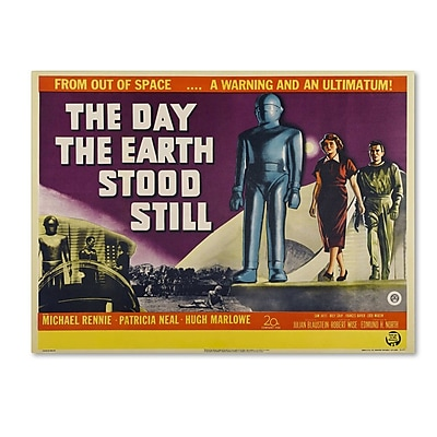 "Trademark Fine Art 'Day Earth Stood Still' 35"" x 47"" Canvas Art"