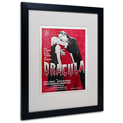 "Trademark Fine Art 'Dracula' 16"" x 20"" Black Frame Art"