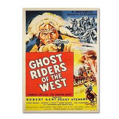 "Trademark Fine Art 'Ghost Riders of the West' 30"" x 47"" Canvas Art"
