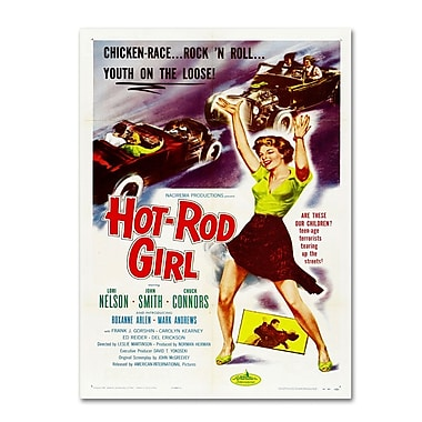 Trademark Fine Art 'Hot Rod Girl' 16