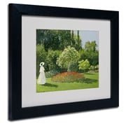 Trademark Fine Art 'Jeanne Marie Lecadre in the Garden'