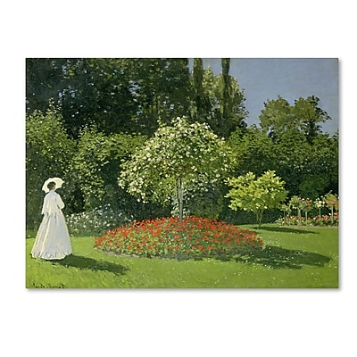 Trademark Fine Art 'Jeanne Marie Lecadre in the Garden' 26