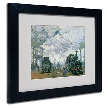 Trademark Fine Art 'Gare Saint-Lazare Arrival of a Train'