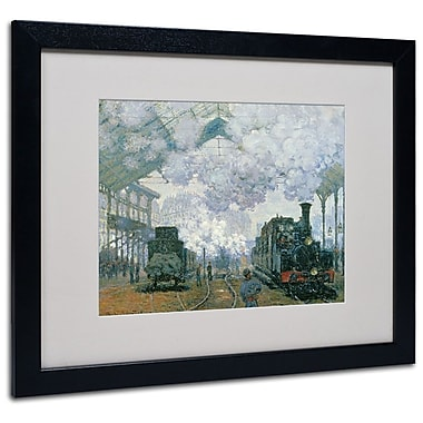 Trademark Fine Art 'Gare Saint-Lazare Arrival of a Train' 16