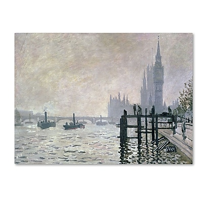 Trademark Fine Art 'The Thames Below Westminster' 16