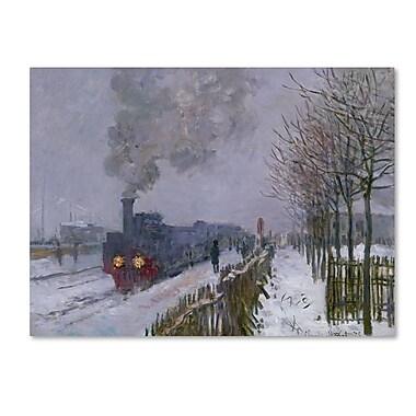 Trademark Fine Art 'Train In the Snow' 24