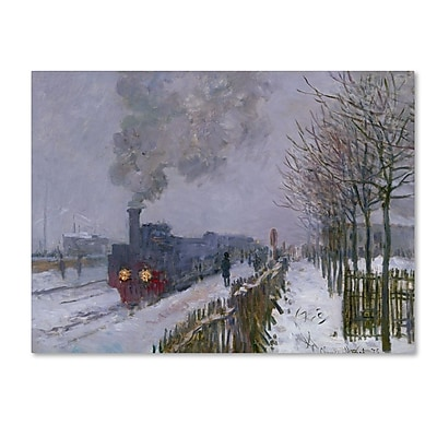 Trademark Fine Art 'Train In the Snow' 35