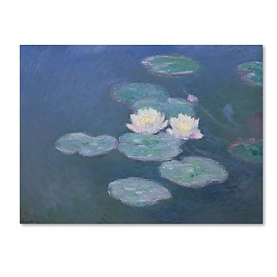 Trademark Fine Art 'Waterlilies Evening' 24