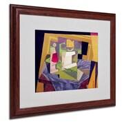 "Trademark Fine Art 'Composition on a Table' 16"" x 20"" Wood Frame Art"