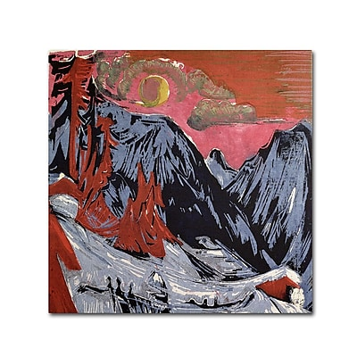 Trademark Fine Art 'Mountains In Winter' 35