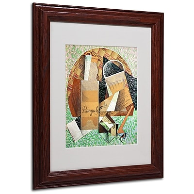 "Trademark Fine Art 'The Bottle of Banyuls' 11"" x 14"" Wood Frame Art"