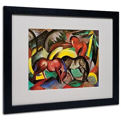 "Trademark Fine Art 'Three Horses' 16"" x 20"" Black Frame Art"