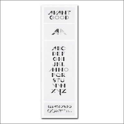 Trademark Fine Art 'Avant Good Font Poster' 18