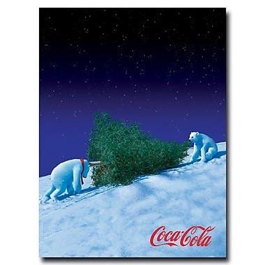 Trademark Fine Art 'Coke Polar Bears with Christmas Tree' 28