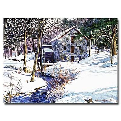 Trademark Fine Art 'Snow Mill' 24