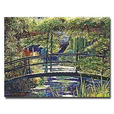 Trademark Fine Art 'Giverny Footbridge' 35
