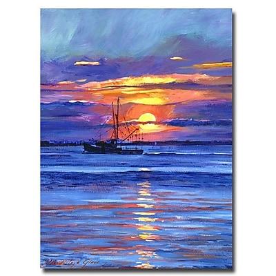 Trademark Fine Art 'Salmon Trawler at Sunrise' 35