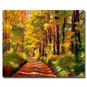 """Trademark Fine Art 'Silence is Golden' 26"""" x 32"""" Canvas Art"""