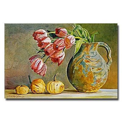 Trademark Fine Art 'Soft Tulips in the Pottery' 16