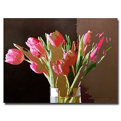 Trademark Fine Art 'Pink Tulips in Glass' 18