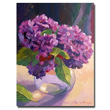 Trademark Fine Art 'Hydrangea Glass Bowl' 18