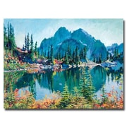 "Trademark Fine Art 'Reflections on Gem Lake' 24"" x 32"" Canvas Art"