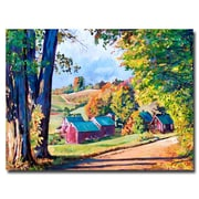 "Trademark Fine Art 'Road to Jenne Farm Vermont ' 18"" x 24"" Canvas Art"