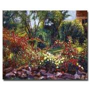 """Trademark Fine Art 'Evening Roses' 18"""" x 24"""" Canvas Art"""