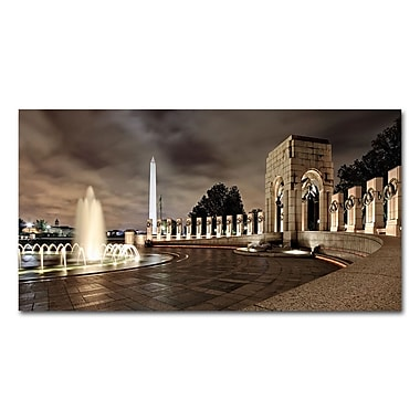 Trademark Fine Art 'World War II Memorial at Night'
