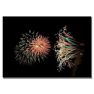 Trademark Fine Art 'Abstract Fireworks 31' 22