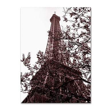Trademark Fine Art 'Eiffel With Tree' 30