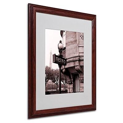Trademark Fine Art 'Metro and Eiffel' 16