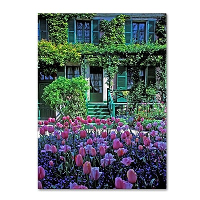 Trademark Fine Art 'Monet's House With Tulips' 14
