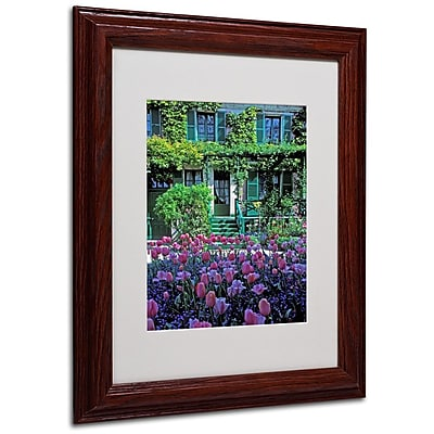 Trademark Fine Art 'Monet's House With Tulips' 11