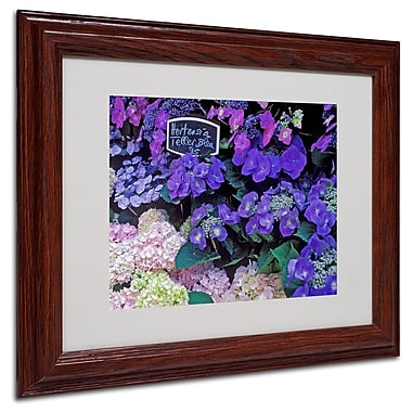 Trademark Fine Art 'Paris Flower Market Hydrangeas' 11