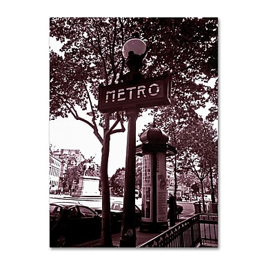 Trademark Fine Art 'Paris Metro and Kiosk 2' 18
